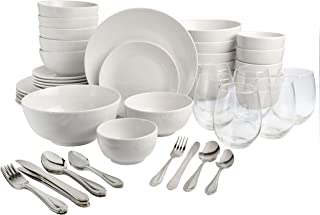Gibson Home All U Need Dinnerware Sets, 60-Piece, White