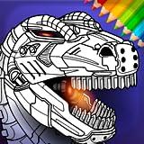 Livro de colorir para meninos Dino Robots