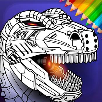Dino Robots Coloring Book