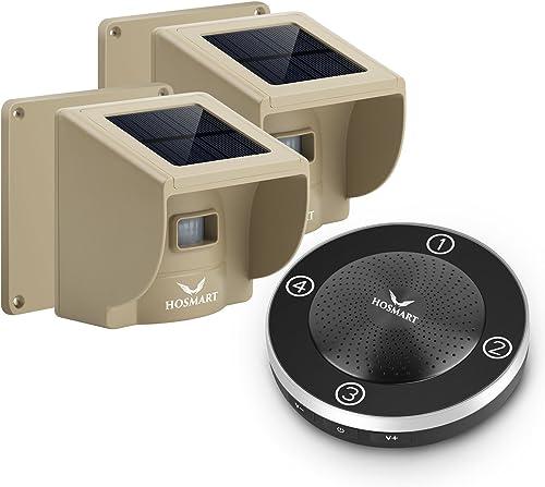 Hosmart Rechargable Solar Driveway Alarm Wireless Sensor System Driveway Sensor Alert System Weatherproof Security Ou...