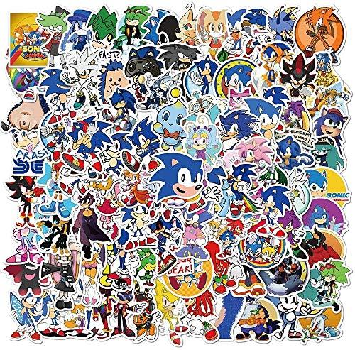votgl Spiel Sonic Stickers Hedgehog DIY personalisierte Aufkleber Ps4 Skateboard Laptop Gitarre Anime Sticker 100Pcs