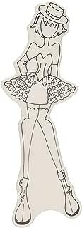 Prima Marketing Julie Nutting de Espuma Recuerdos Cling Goma Stamps-Priscilla 2,5Pulgadas x 19,05x