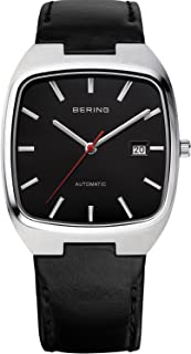 BERING Automatic Numbered Limited Edition Men's Leather Strap Watch, 13538-402