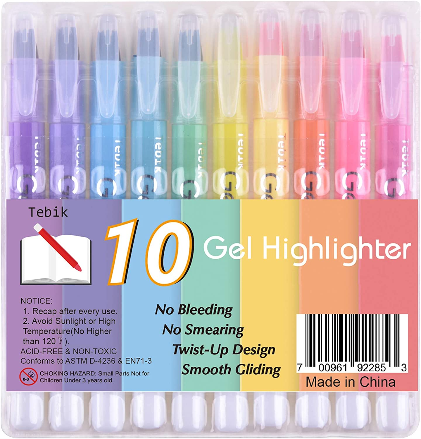 Tebik Gel Albuquerque Mall Highlighter 10 Colors Kit Dry Tampa Mall Study High