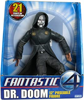 Marvel Fantastic Four Year 2005 Movie Series 12 Inch Tall Poseable Action Figure - Dr. Doom with 21 Points of Articulation