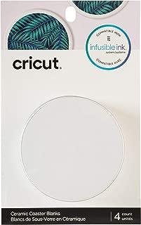 Cricut Coaster Blanks, Ceramic Infusible Ink, White