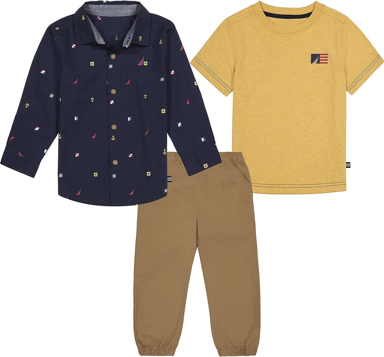 Nautica baby-boys 3 Pieces Shirt Pants Sets