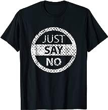 Retro 80's Just Say No t-Shirt DARE Resist Drugs & Violence