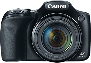 Canon SX530 HS 16.0 MP PowerShot CMOS Digital Camera with 50x Optical Image Stabilized Zoom (24-1200mm) and 3-Inch LCD HD ...