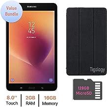 Samsung Galaxy Tab A 8.0-inchTouchscreen (1280 x 800) Wi-Fi Tablet, Quad-Core 1.4GHz APQ8017 Processor, 2GB RAM, 16GB Memory, Bluetooth 4.2, 128GB MicroSD, Tigology Case, Android 7.1 OS