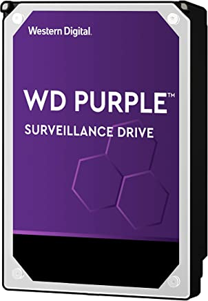 "WD Purple 4TB Surveillance Hard Drive - 5400 RPM Class, SATA 6 Gb/s, 64 MB Cache, 3.5"" - WD40PURZ"
