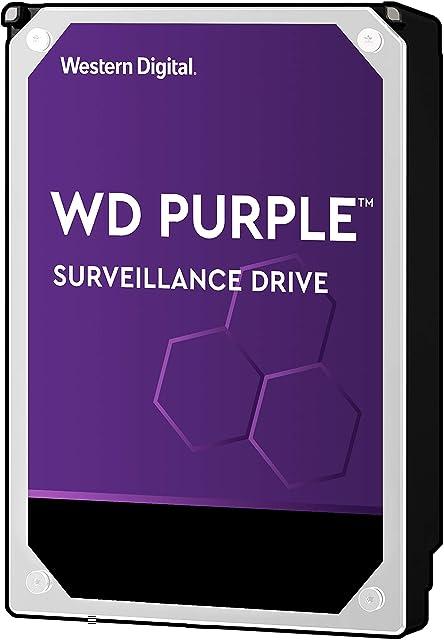 Western Digital WD Purple 4TB para videovigilancia - 3.5 pulgadas SATA 6 Gb/s disco duro con tecnología AllFrame 4K - 180TB/yr 64MB Cache 5400rpm - WD40PURZ