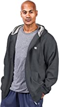 Champion Men's Big and Tall Full Zip Fleece Hoodie (Charcoal, 3XL)