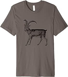 Wild Ibex Goat Print T-Shirt