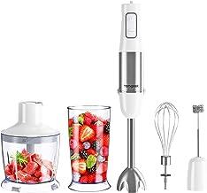 homgeek Immersion Hand Blender, 500W 6-Speed 5-in-1 Stainless Steel Stick Blender with BPA-Free Food Chopper, 600ml Beaker...