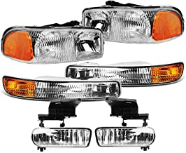 Epic Lighting OE Style Replacement Fog Lights Compatible with 1997-2000 Dakota Durango Left /& Right Sides Pair CH2592104 CH2592145 CH2593104 CH2592145 55076793 55077267AC 55076792 55077266AC