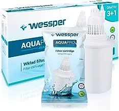 Wessper® 4 Filtros de agua para jarra alcalina – blanco