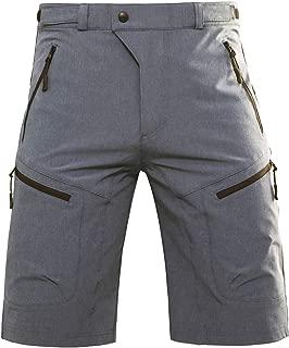Hiauspor Mens MTB Shorts Mountain Bike Shorts Water Repellent Baggy Half Pants with Pockets for Cycling Riding