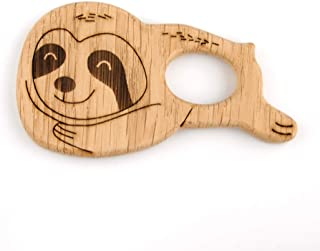Sloth Wooden Teether Toy for Baby Teething