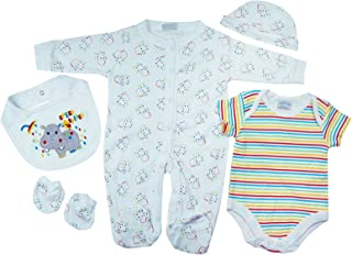 Presents Gifts Newborn Baby Boys Girls Toddler Unisex Cute Clothing Sets Newborn 0-3 3-6 Months Outfits Bundles Pack Whit...