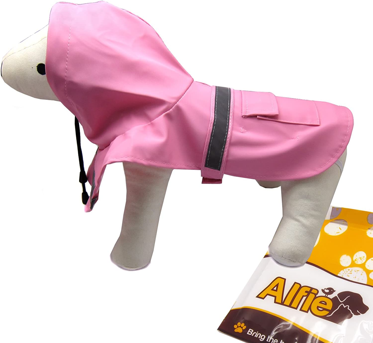 Alfie Pet  Pluvia Rainy Days Waterproof Raincoat (for Dogs and Cats)  color  Pink, Size  XS