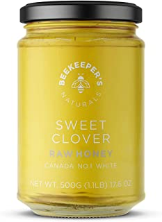 BEEKEEPER'S NATURALS Sweet Clover Honey - Raw, 100% Pure, Natural, Wildcrafted, Nutrient Rich, Antioxidants, Sustainable -...