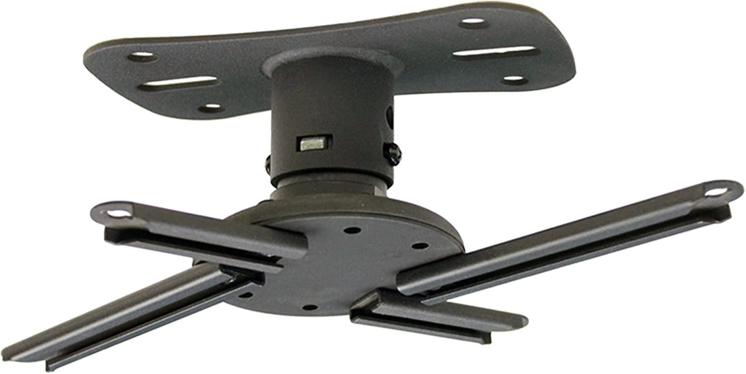 Kanto P101 Universal Projector Ceiling Mount – Solid Steel Construction – Easy to Install – Black