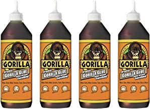 Gorilla Original Waterproof Polyurethane Glue, 36 ounce Bottle, Brown, (Pack of 4)