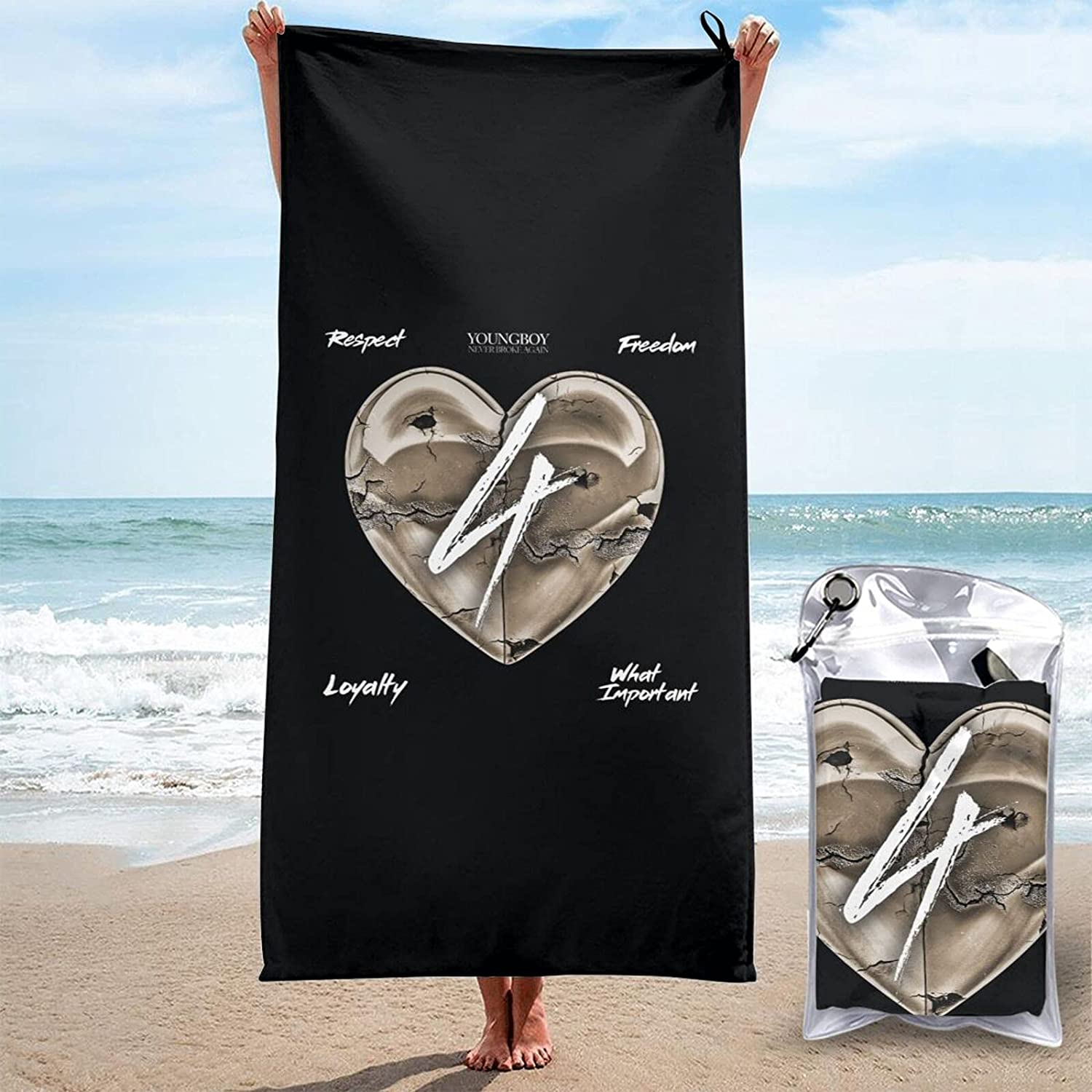 Youngboy Never Broke Again Lowest price challenge 3D Printed Beach Large Long Beach Mall Towels are San