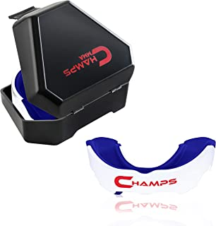 Champs MMA Mouth Guard with Case – Martial Arts Training Equipment Mouthpiece– Wrestling Mouthguard for Boxing, Muay Thai,...