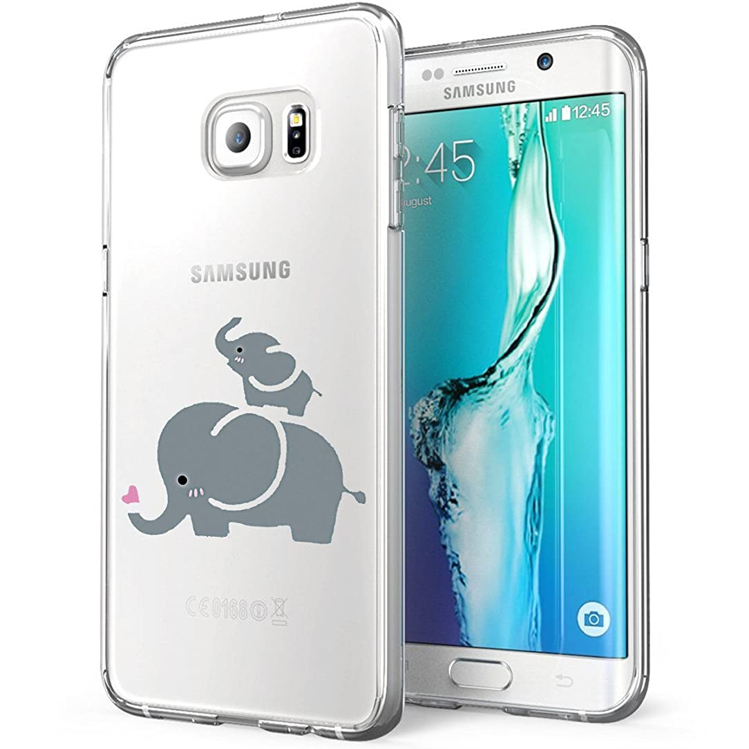 Matop Compatible for Galaxy S7/S7 Edge Case Crystal Clear Soft TPU Ultra Slim with Design Shockproof Protective Case for Samsung Galaxy S7/S7 Edge Pattern Bumper Cover(Elephants, Galaxy S7)