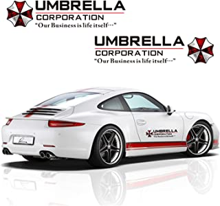 YSpring 1 Pair Resident Evil Umbrella Corporation Car Decals Decorative Stickers for Car Motocycles (Black) …