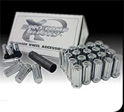 Pro Comp Wheels 21184 Lug Nut Kit Chrome 1/2 in. 25 Piece 4 Chrome Valve Stems/1 Lug Socket Lug Nut Kit