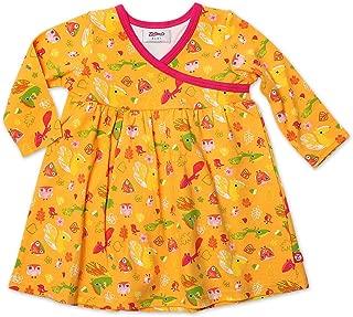 Zutano 女婴坚果图案长袖裹身裙