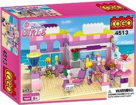 Dream Girls Blocks Ice Cream Shop Educational Toys Kit for Kids Construction Toys Building Bricks 317 Pcs