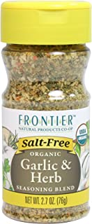 Frontier Salt Free Organic Seasoning, Garlic and Herb, 2.7 Ounce