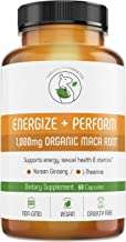Energy Pills with Organic Maca Root | Testosterone Booster with Korean Red Ginseng & L-Theanine | Libido Enhancement for Men & Women | The HEALTHY HAMSTER Gluten-Free Vegan Non-GMO Supplement Capsules
