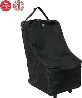 J.L. Childress Wheelie Car Seat Travel Bag, Black