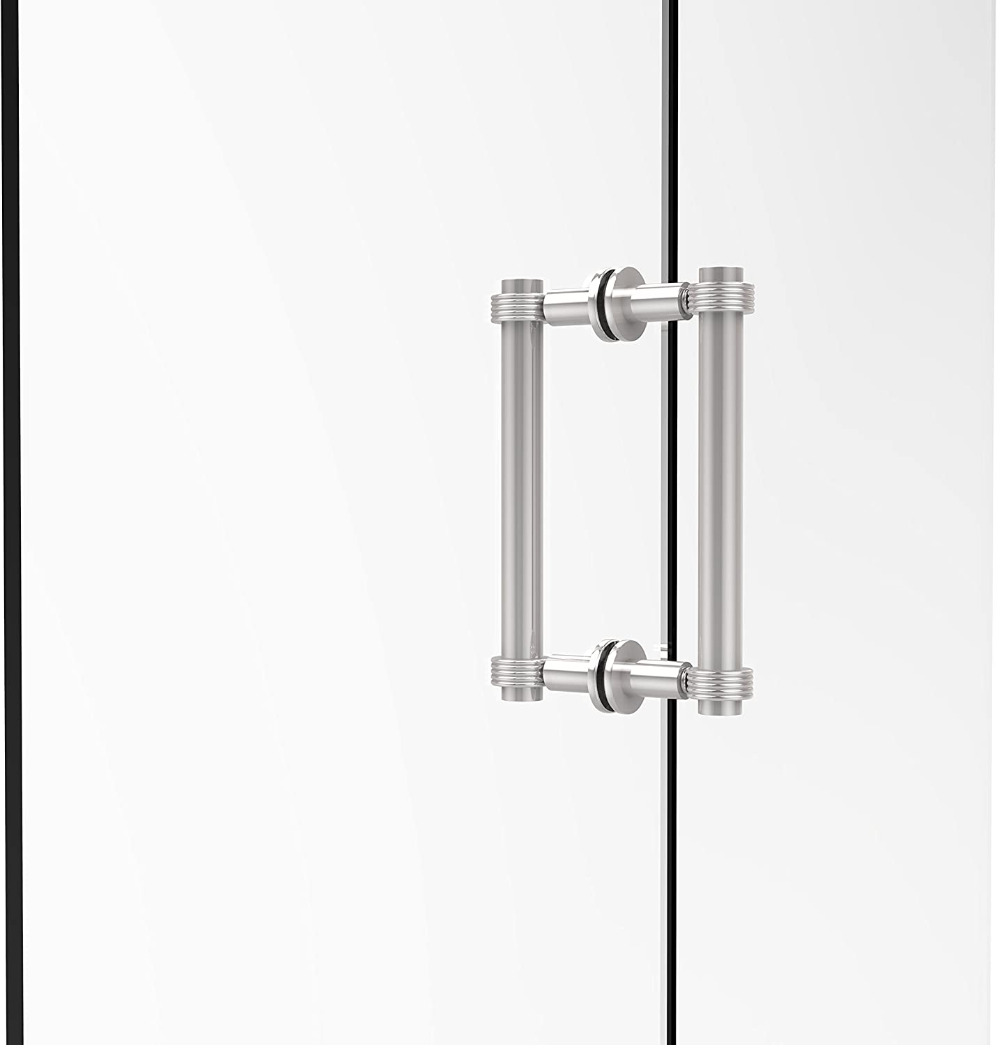Allied Brass 404G-8BB-PC Contemporary 8  Back To Back Shower Door Pull with Grooved Accent,