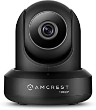 Amcrest ProHD Cámara IP de Seguridad WiFi 1080P 2MP (1920TVL) de giro Horizontal / Vertical para interiores, (IP2M-841B) Negro