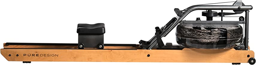 Pure Design Fitness Indoor Rowing Machine - Valor with Dual Rails with Steel Frame, Water Flywheel, and VR2 Monitor