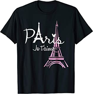 I Love Paris Eiffel Tower France T-Shirt French Souvenir