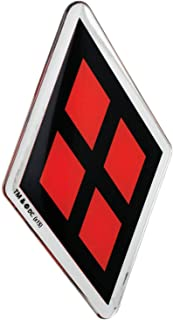 Fan Emblems Harley Quinn Logo Car Decal Domed/Black/Red/Chrome Finish, DC Comics Batman Automotive Emblem Sticker Applies Easily to Cars, Trucks, Motorcycles, Laptops, Cellphones, Almost Anything
