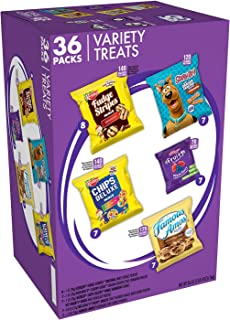 Keebler Sweet Treat Variety Pack, Fudge Stripes, Chips Deluxe Rainbow, Scooby-Doo! Graham Crackers, Famous Amos, Fruity Sn...