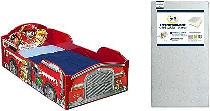 Delta Children Wood Toddler Bed, Nick Jr. PAW Patrol + Serta Perfect Slumber Dual Sided Recycled Fiber Core Toddler Mattre...