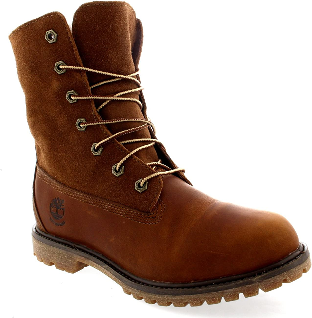 Timberland Womens Authentic Teddy Fleece Rain Snow Leather Winter Boots