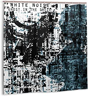 SHANGQINGYUN Ghost in The Shell-White Noise Anime/Cartoon/Gaming Shower Curtain (72 X 72 Inch) Waterproof Polyester Fabric Shower Curtain for Bathroom Showers and Bathtubs with Plastic Hooks