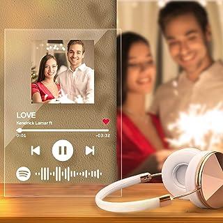 Personalized Spotify Keychain Plaque/Spotify Music Night Light Custom Music Gift