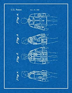 "Star Trek Landing Party Jacket for The Wrath of Khan Patent Print Blueprint with Border (5"" x 7"") M10733"