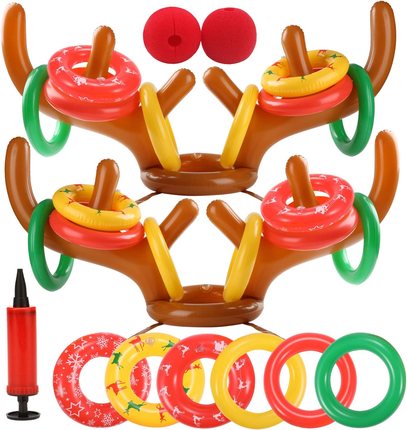 eboozone At the price of surprise Inflatable Reindeer Antler Ultra-Cheap Deals Toss Christmas Sets Game 2